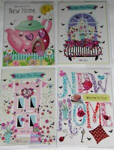 29p GREAT PRICE! 'NEW HOME' CARDS X 72  FREE POSTAGE, 12 DESIGNS X 6, WRAPPED