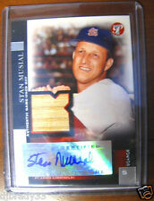 Stan Musial 2005 Topps Scarce Base  6/49  Autographed Game Used Bat Card 1/1