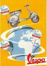 Cartel de publicidad Moto Vespa A3 reimpresión