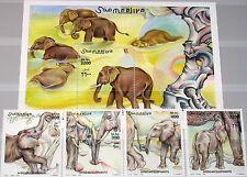 Somalia 2000 855-58 bloque 74 elefante africano African Elephant fauna mnh