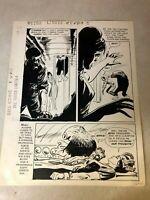 Outer Limits #4 original comic art 1964 ALIEN punches SCIENTIST experiments DELL