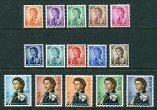 1962 Hong Kong QEII Definitive set (Wmk Upright) stamps Unmounted Mint U/M MNH