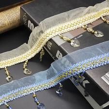 11 Meters Curtain Trim Lace Tulle Crystal Sewing Tassel Fringe DIY Accessories