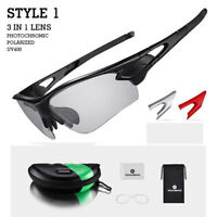 ROCKBROS Photochromic Glasses Sunglasses Polarized Lens Sports Goggles