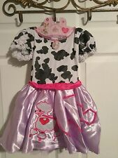 Fancy Nancy POODLE DRESS up Costume COW Child 4-6X 3+ pretend cowgirl halloween