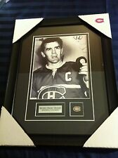 Maurice Rocket Richard Montreal Canadiens unsigned Hockey Frame Cadre Puck NHL
