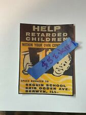 One cent Gumball machine decal: Help Retarded kids - Repop DECAL
