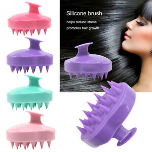 Spa Hair Brush Silicone Shampoo Wide Tooth Comb Hair Washing Comb Scalp Massage