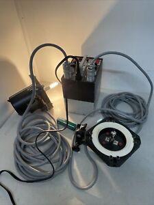 Norman Superlite 800 Power Pack + LH 2000 & LH2400 Lamp heads EUC