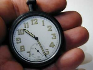 NOS Australian Military Watch WWII G.S.W.T. Telegraphy Radio Timepiece Montilier