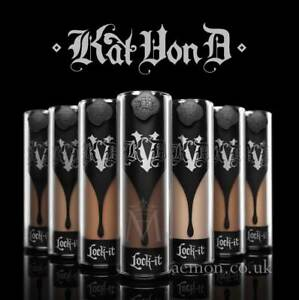 Kat Von D KVD Lock-it foundation Light, Medium, Deep 40-81 5ml,15ml,30ml GENUINE