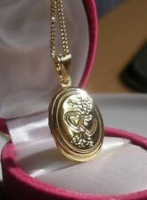 STUNNING 9ct Gold gf opening locket necklace FREE POSTAGE IF YOU BUY TODAY 098