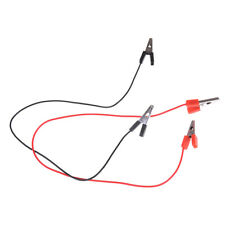 1Pair 40CM 5A Double Alligator Clip Clamp Test Booster Jumper Cable Red balck HK