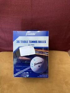 Official Franklin 36 count Table Top Tennis/Ping Pong Balls size 40mm