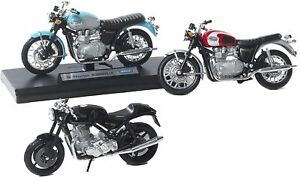 3 Pezzi modellino Motocicletta in Scala 1:18, Triumph Bonneville, Norton byPaben