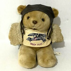"""Gerhardshofen Bruch Pilot Plush Teddy Bear 9"""" For Cleaning Repair Poor Condition"""