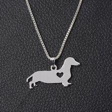 Stainless Jewelry Animal Popular Dachshund Shape Dog Necklace Pendant Puppy