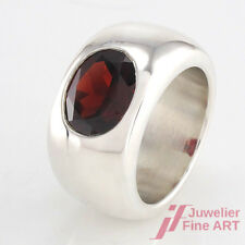 QUINN Ring in 925 Sterlingsilber - Granat-Oval - 17,4 g - Gr. 50