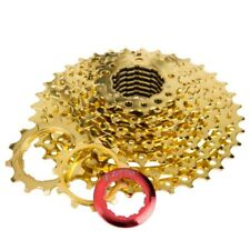 Parts Mountain Bike 9Speed Gold Freewheel Cassette 11-36T Outdoor Sports