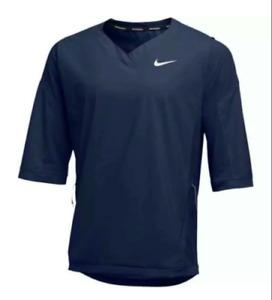 NIKE Men's Baseball 3/4 Sleeve Pullover Wind Shirt NWT Navy XL FREE SHIPPING