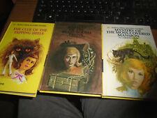 3 Nancy Drew matte books--16-17-18 Tapping Heels,Brass Bound Truck,Moss Mansion