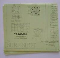 Gottlieb Sure Shot Pinball Machine Original Schematic Sheet Wiring Diagram 1976