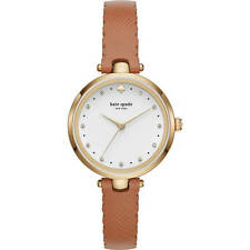 Kate Spade New York Women's Holland Scallop Brown Tan Leather Watch #KSW139 NWT