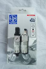 Lux Profi Druckminderer mit  Wasserabscheider Wartungseinheit und Nebelöler