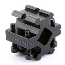 Barrel Clamp On to Picatinny Weaver Rail Mount Adapter Fit For Rifle Bipod