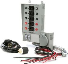 Reliance Controls 10-Circuit 30 Amp Transfer Switch with Mounting Kit/Cover