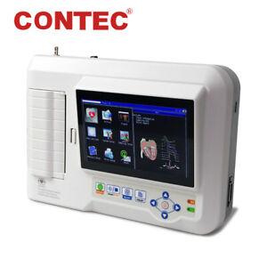 CONTEC ECG600G Digital 6-Channel 12-lead ECG EKG Machine Electrocardiograph+ USB