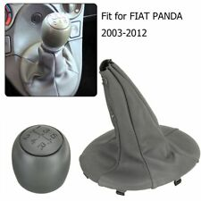 1Pc 5 Speed Car Gear Shift Knob with PU Leather Dustproof Cover for FIAT PANDA