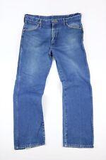 Vintage 1960s 1970s Wrangler Distressed Blue Jeans Fits 34x30