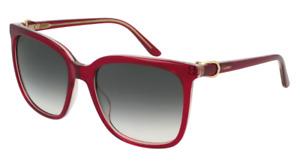 Cartier Sunglasses Signature C DE Cartier CT0004S 004 55MM Red With Grey Lens