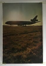 DC-10 Vintage Airplane Poster McDonnell Douglas Airline Plane Pin-up Planes