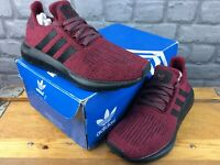 ADIDAS OG LADIES UK 6 EU 39 1/3 SWIFT RUN TRAINERS BURGUNDY BLACK RRP £70 M
