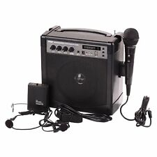 PYLE Bluetooth Wireless Microphone PA Speaker System USB MIC Headset Belt Pack