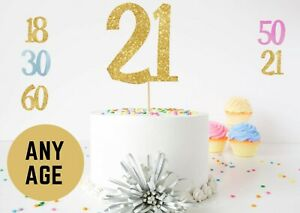 Birthday Number Cake Toppers Any Age Party Decorations 18th 21st 50th 30th 60th