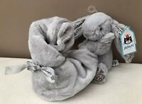NEW Jellycat Blossom Silver Bashful Bunny Soother Comforter Soft Toy Baby Grey
