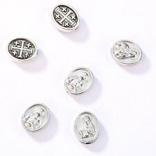50pcs Alloy European Beads Cross Spacer Beads for DIY Religious Jewelry Finding