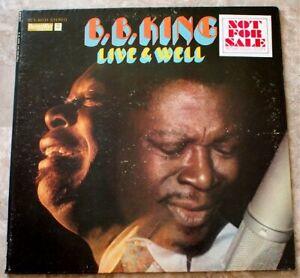 B.B. King Live And Well 1969 LP Vinyl Original Promo BLS-6031 Sterling Sound