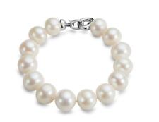 """GORGEOUS 12-14mm south sea white round pearl bracelet 7.5-8"""""""