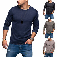Jack & Jones Herren Strickpullover Pullover O-Neck Basic Langarmshirt Casual
