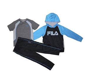 Fila Boys Athletic Logo 3 Piece Active Wear Hoodie and Pants