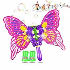 Butterfly Bubble Wand Toys for Kids Outdoor Bubble Machine