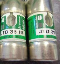2 NOS Littelfuse JTD 35 ID Class J Fuses W/Indicator Time Delay Fuses LPJ-35SP