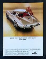 """1965 Chevrolet Corvette Sting Ray GM """"Ready to Display""""  car ad  gift 1964 1966"""