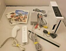 Nintendo Wii Console System RVL-001 *WORKS* w/ Cables, Controller, Games!