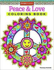 Peace & Love Coloring Book, Paperback, New