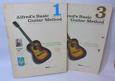 Alfred's d' Auberge Basic Guitar Method Books 1 3 Instructions Lessons Manus Lot